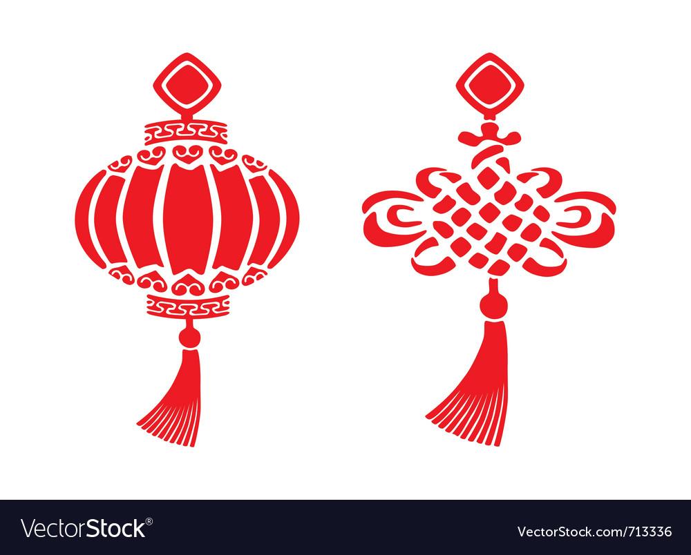 Chinese symbols vector