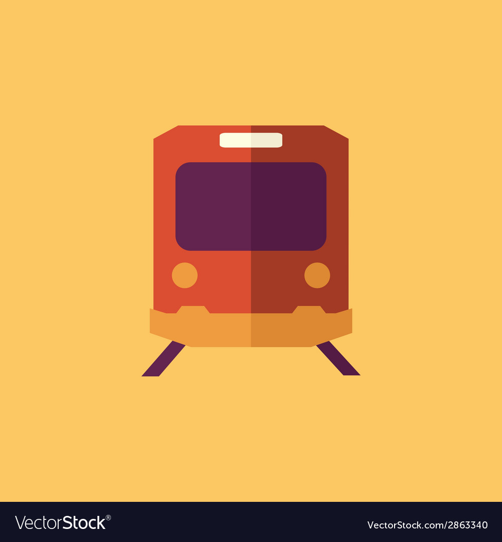 Train transportation flat icon vector