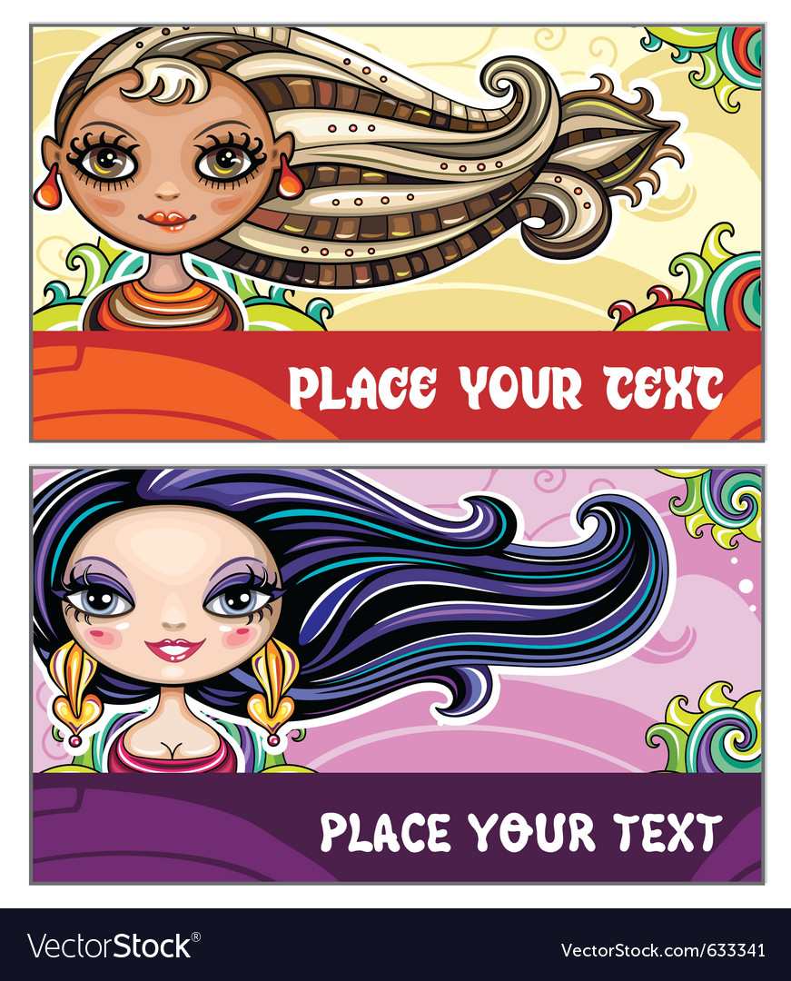 Fashion cards 2 vector