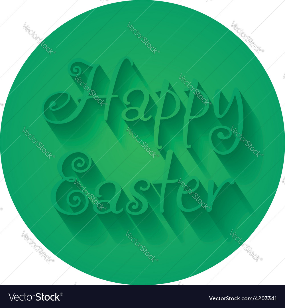 Happy easter hand lettering typographical greeting vector