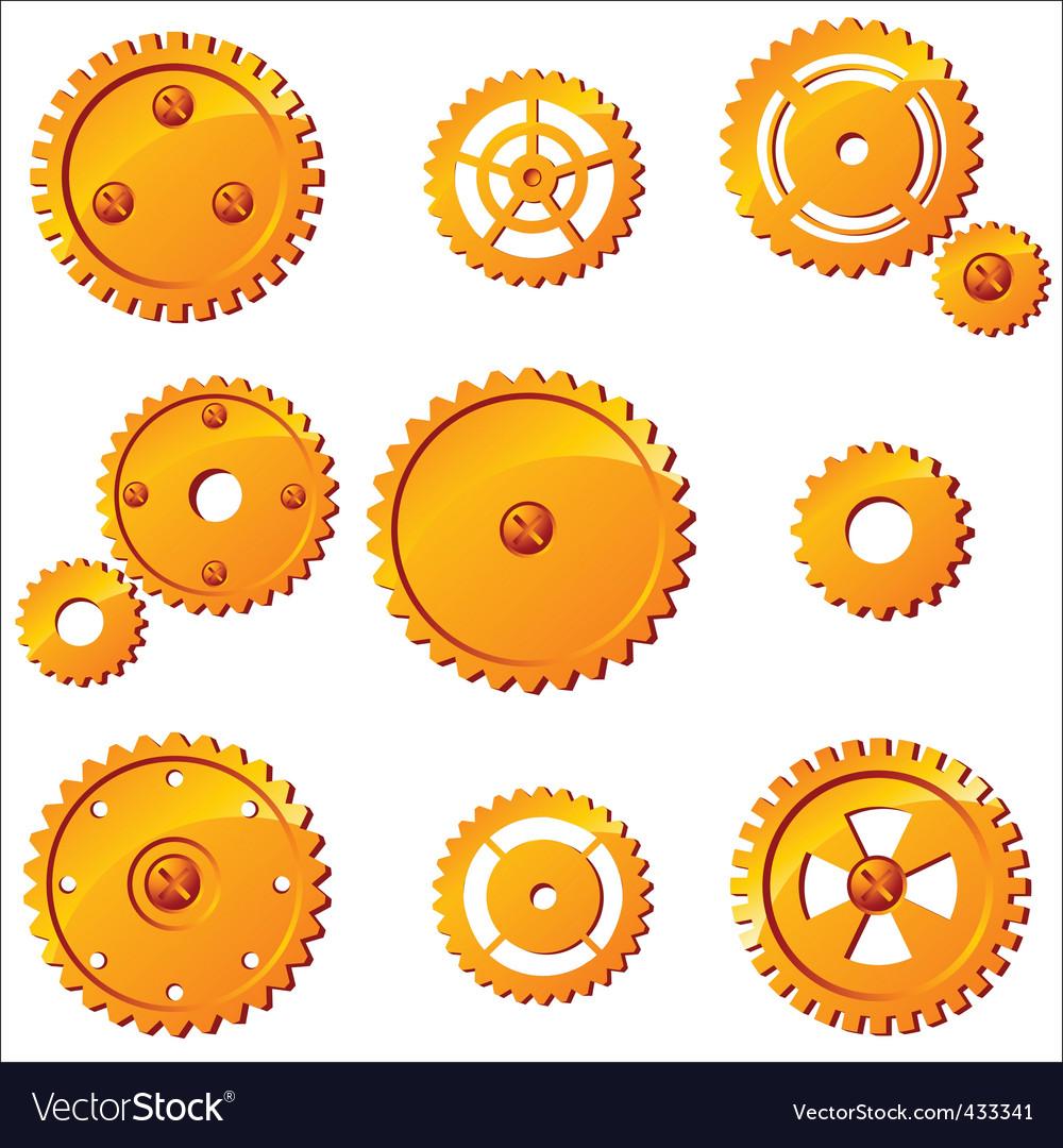 Mechanism icons vector