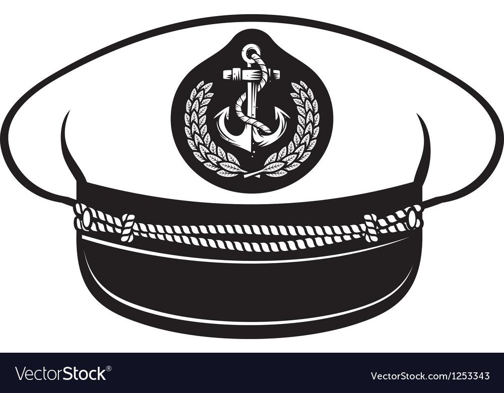 Captain hat vector