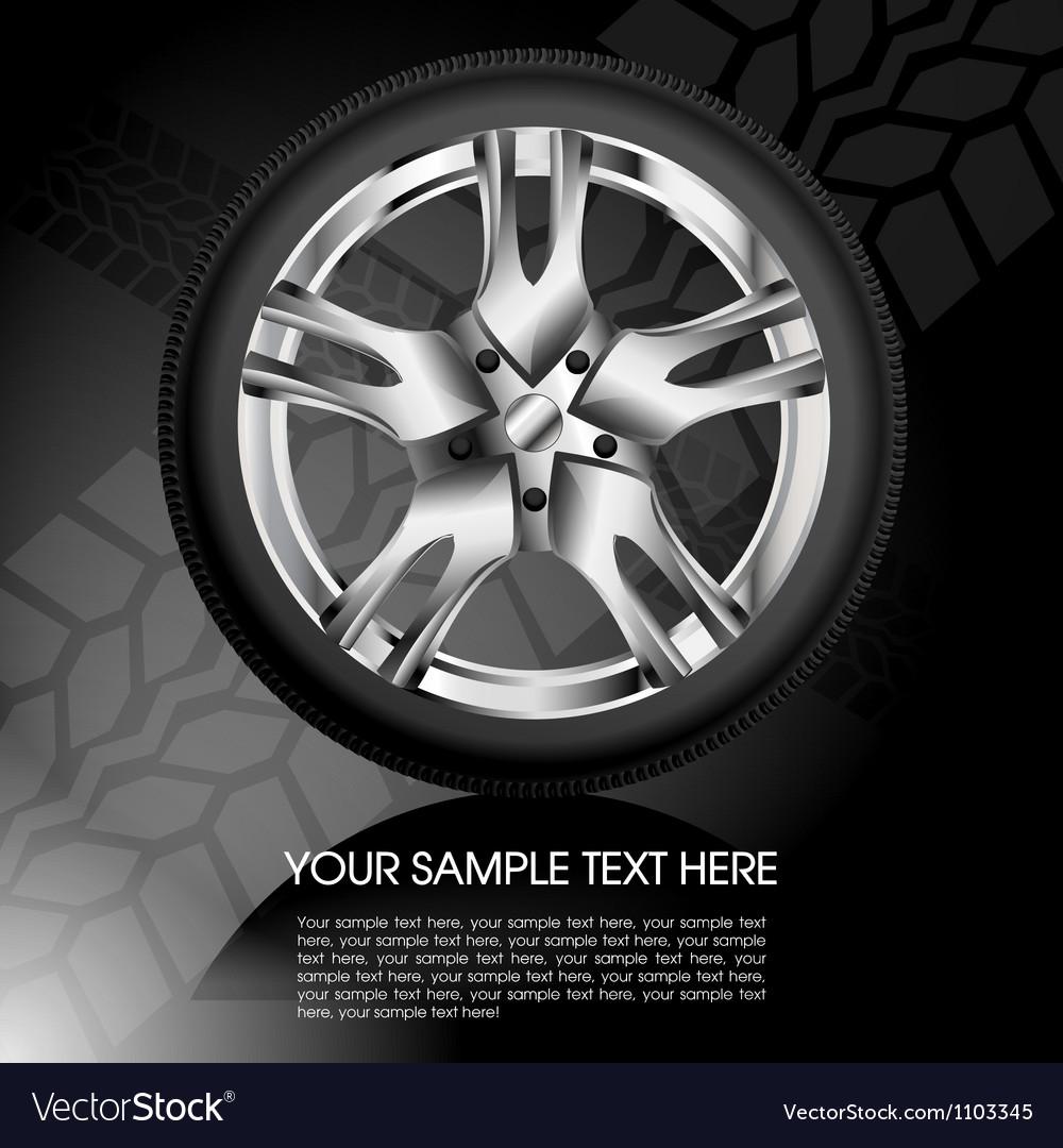 Shiny car wheel vector