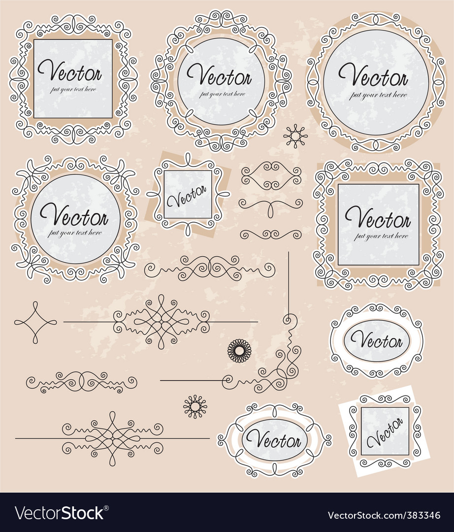 Ornaments 02 vector