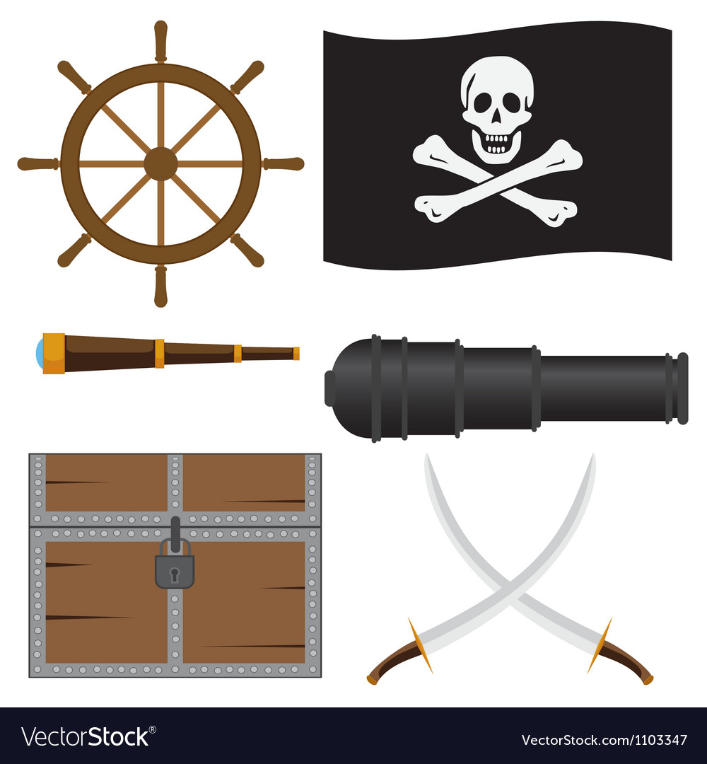 Pirate set vector