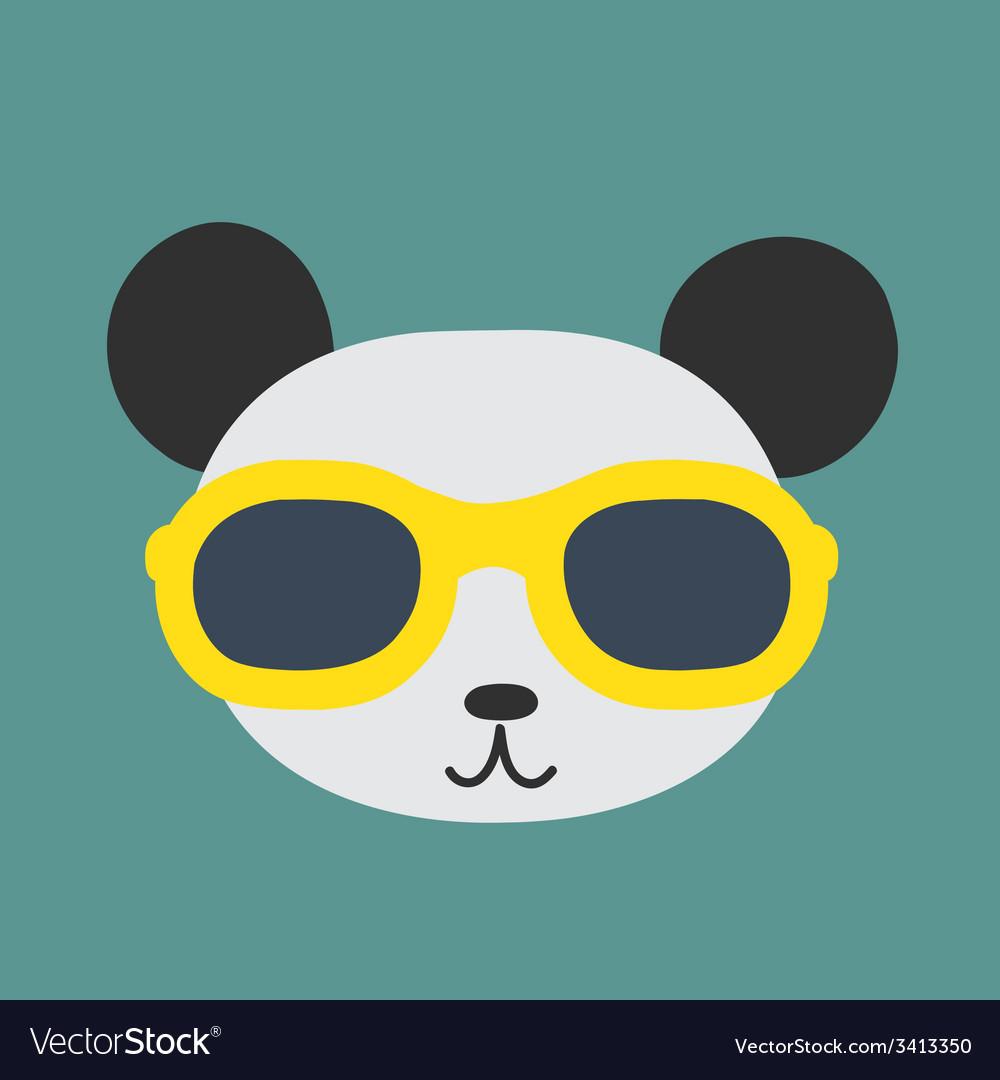 Panda glasses vector