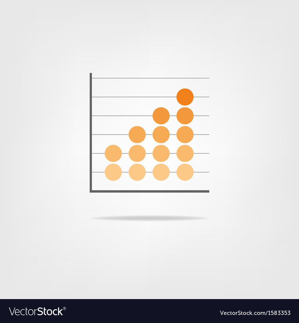 Abstract graph element for infographics vector