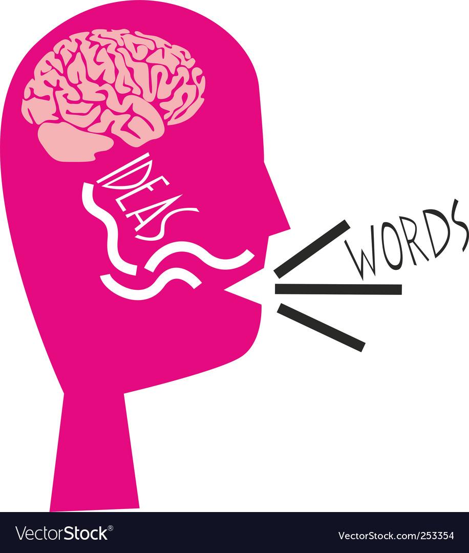 Ideas into words concept vector