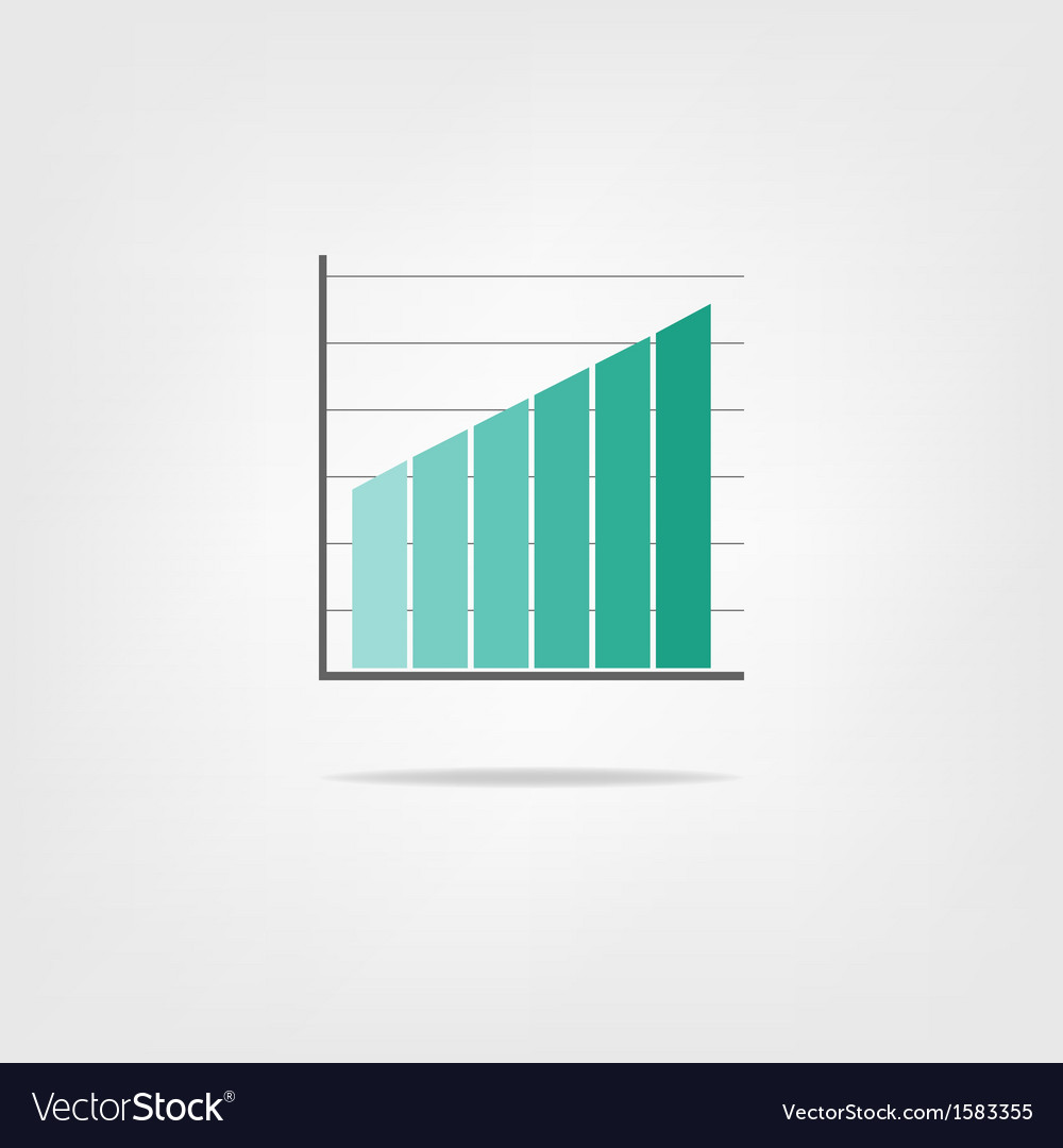 Infographics growing graph vector