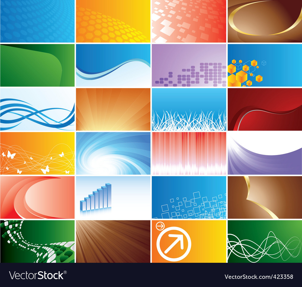 collection business card vector