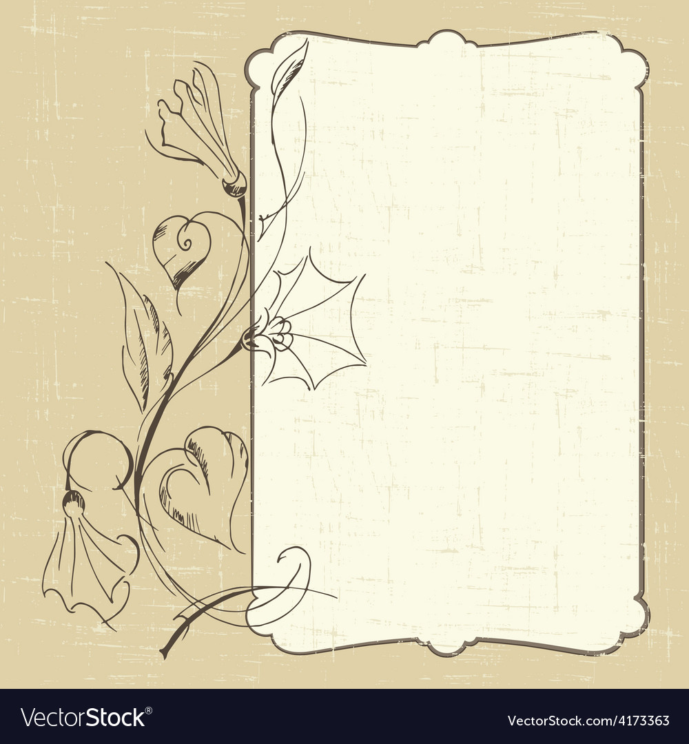 Postcard with bindweed vector