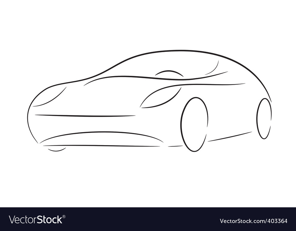 Cartoon silhouette of a car vector
