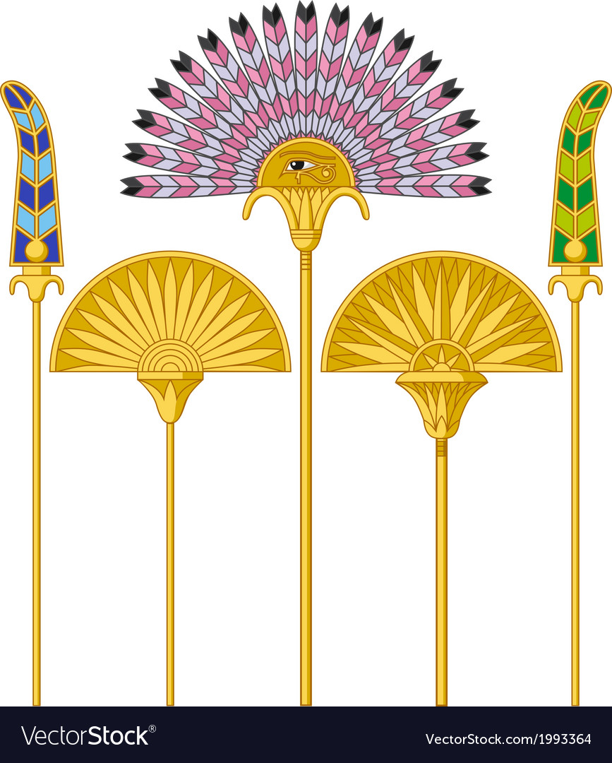 Egyptian large fans vector