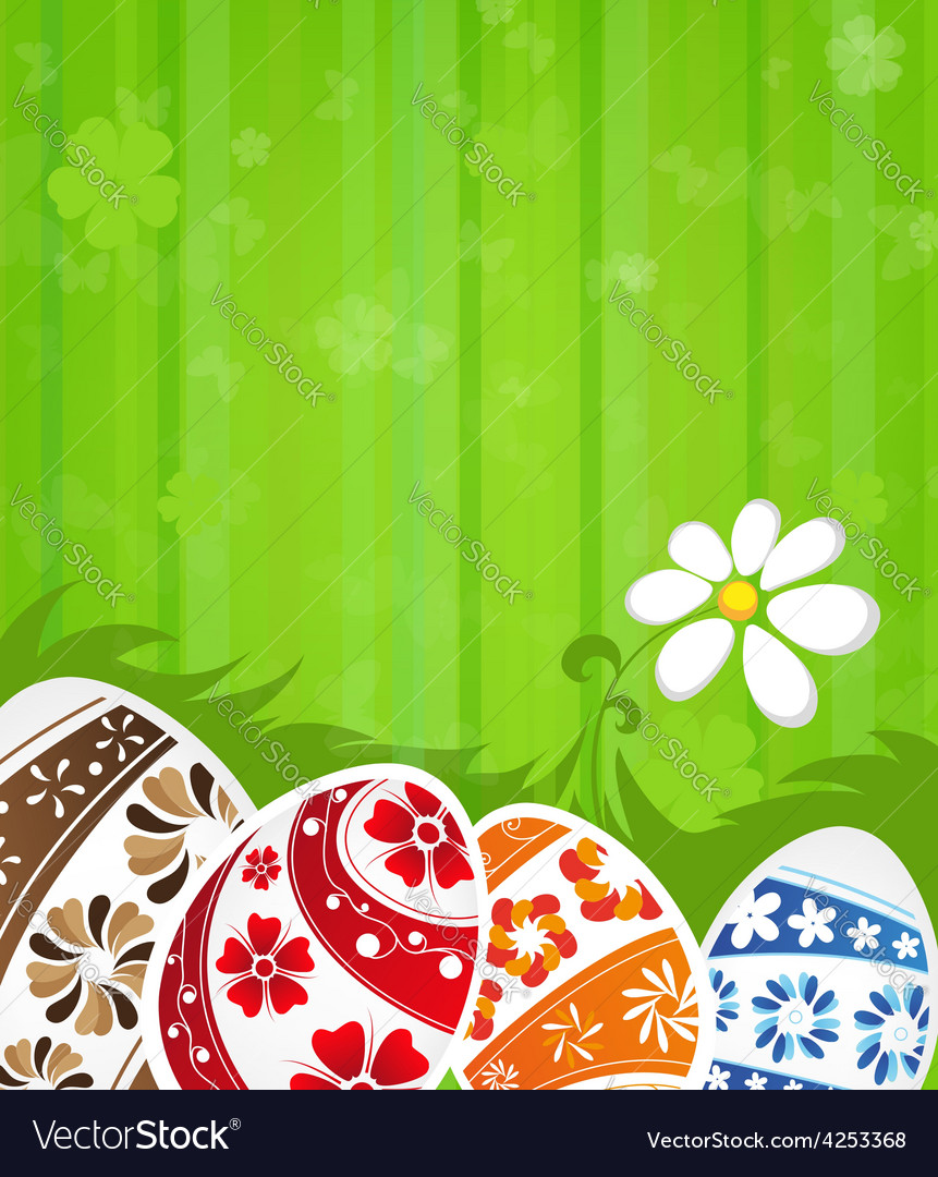 Abstract easter background vector