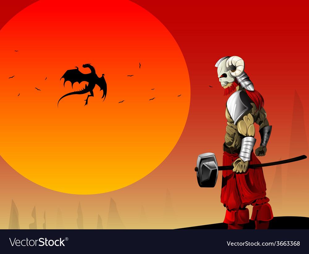 Ancient warrior image vector