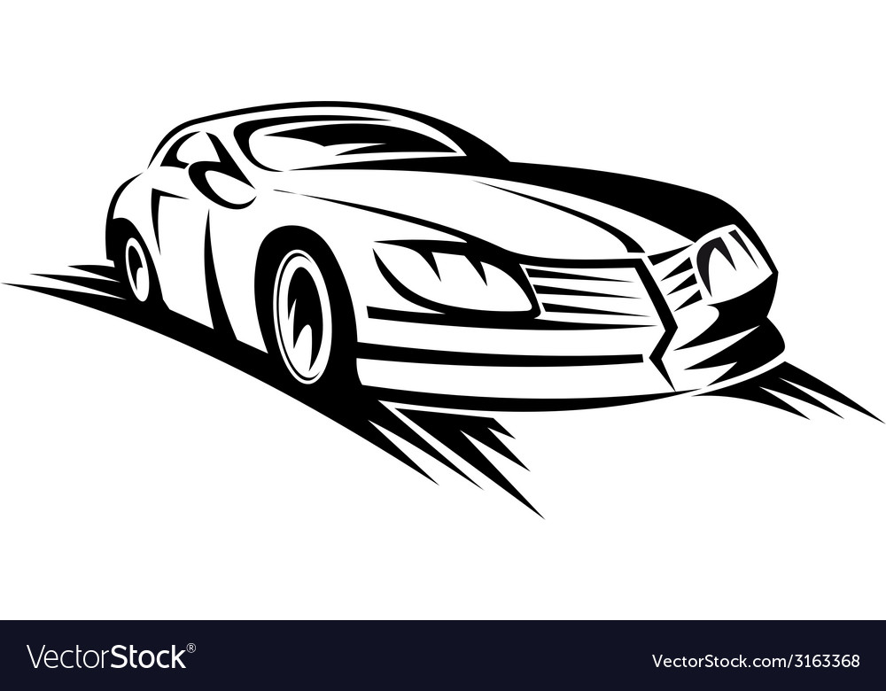 Sporting car vector