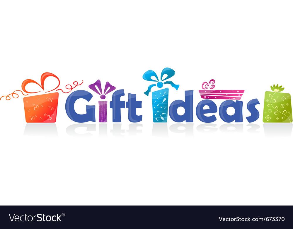 Gift ideas vector