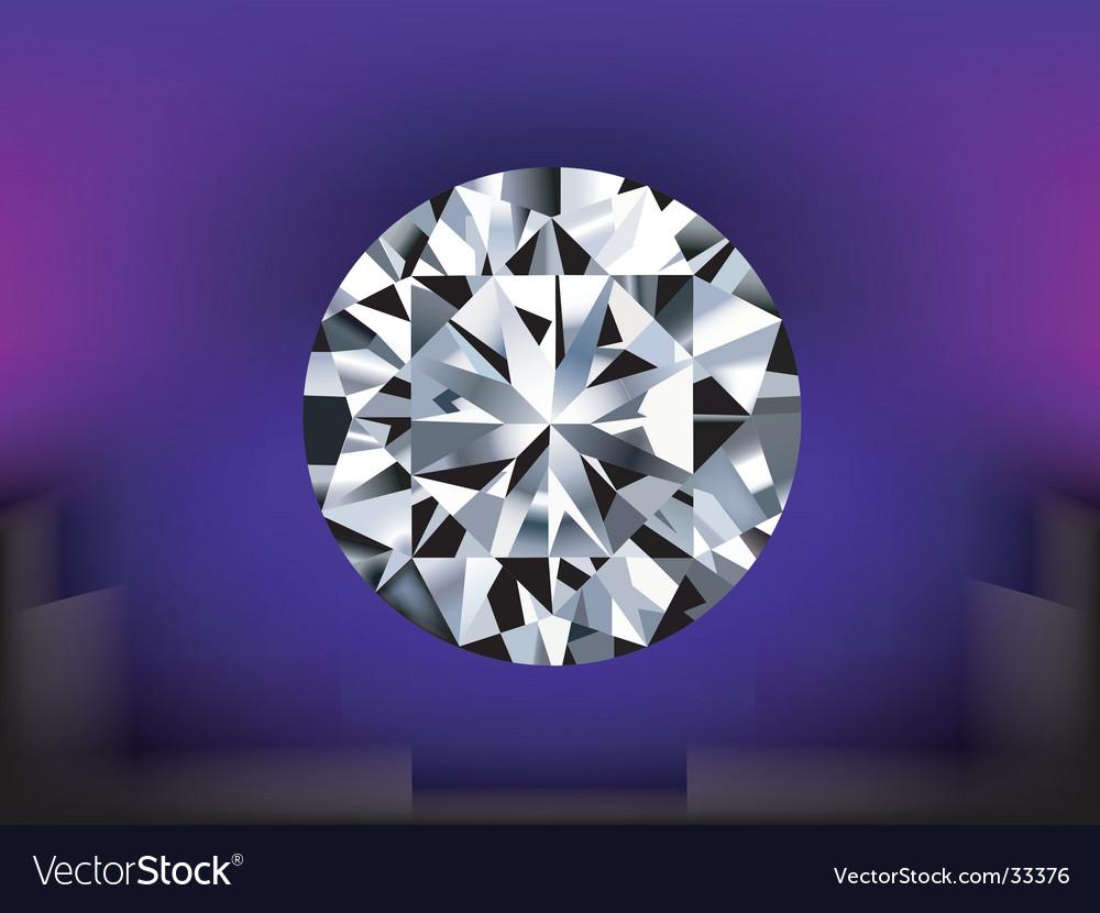 Detailed diamond vector