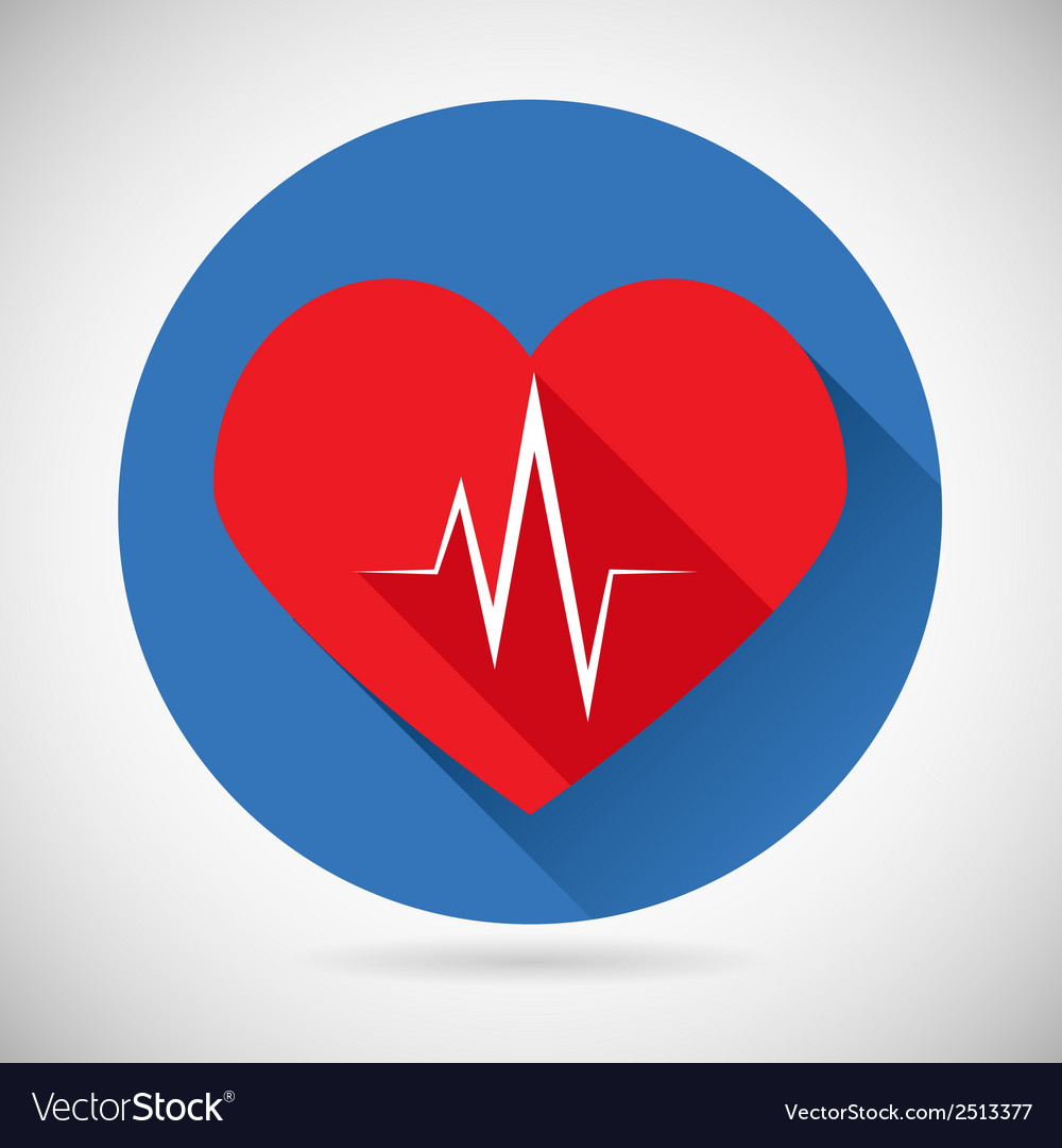 Healthcare and medical care symbol heart beat rate vector