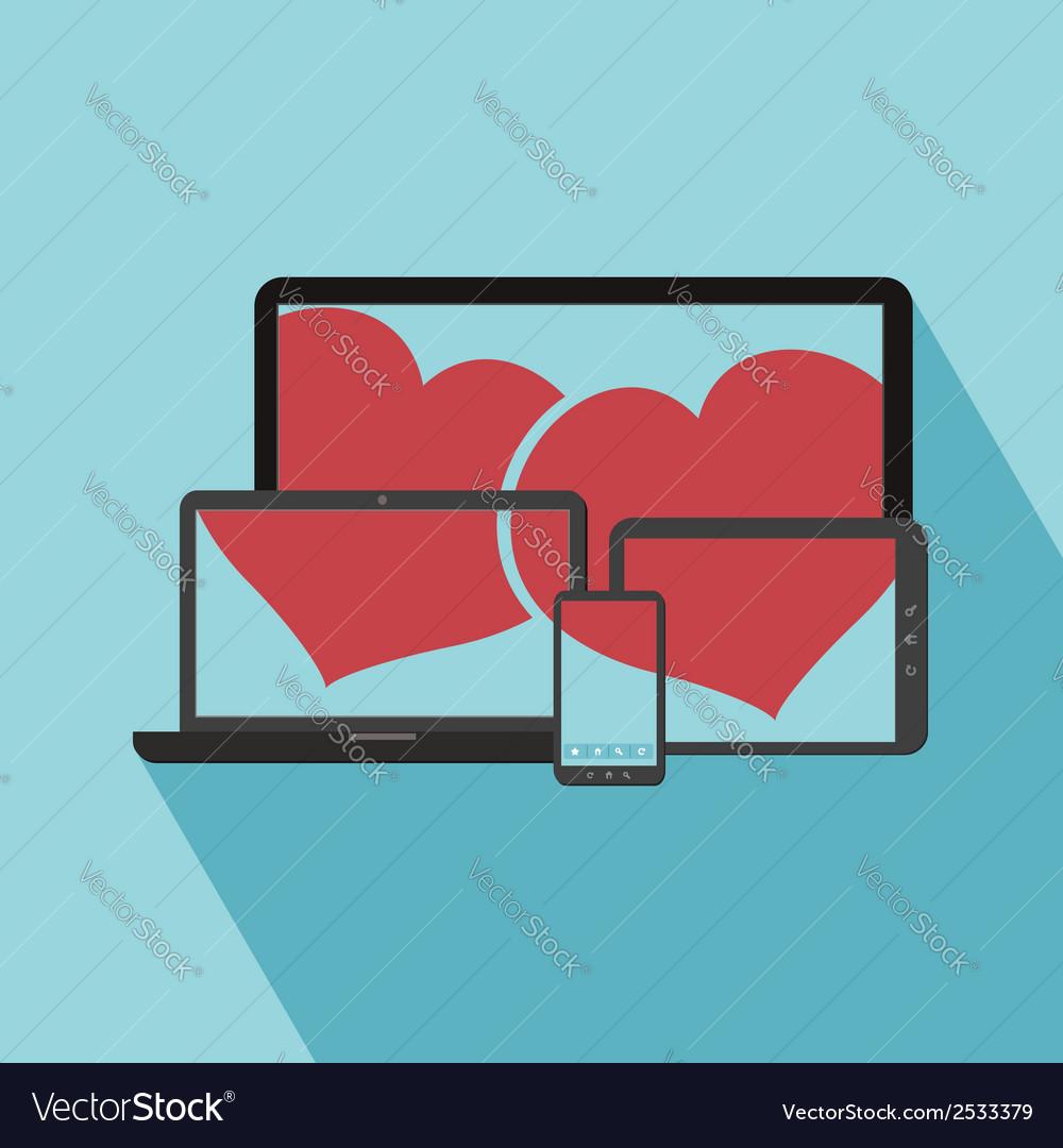 Love online vector
