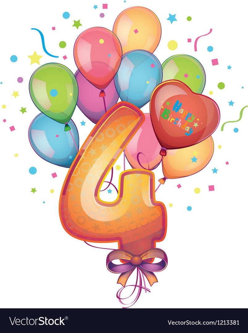 Happy birthday four vector