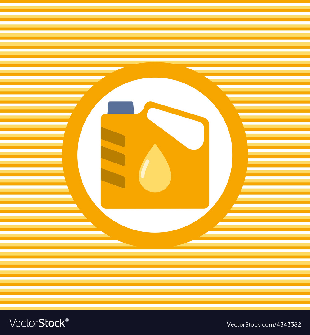 Engine oil color flat icon vector