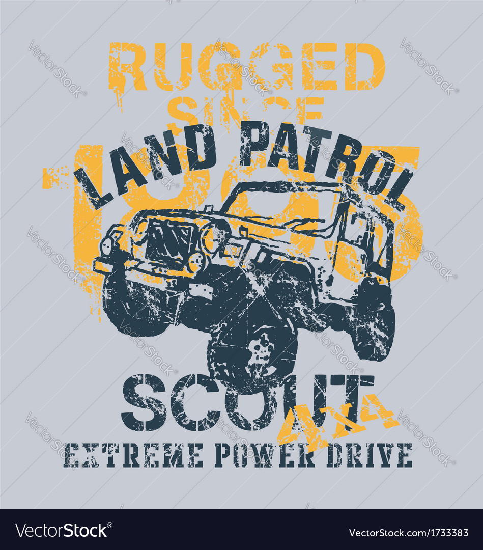 Off road 4x4 land patrol vector
