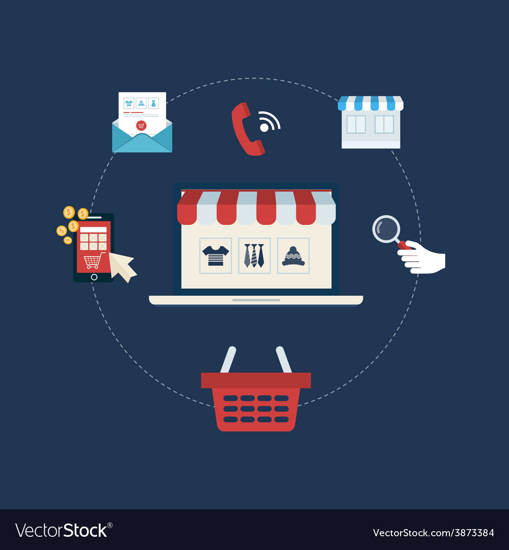 Marketing and online store vector
