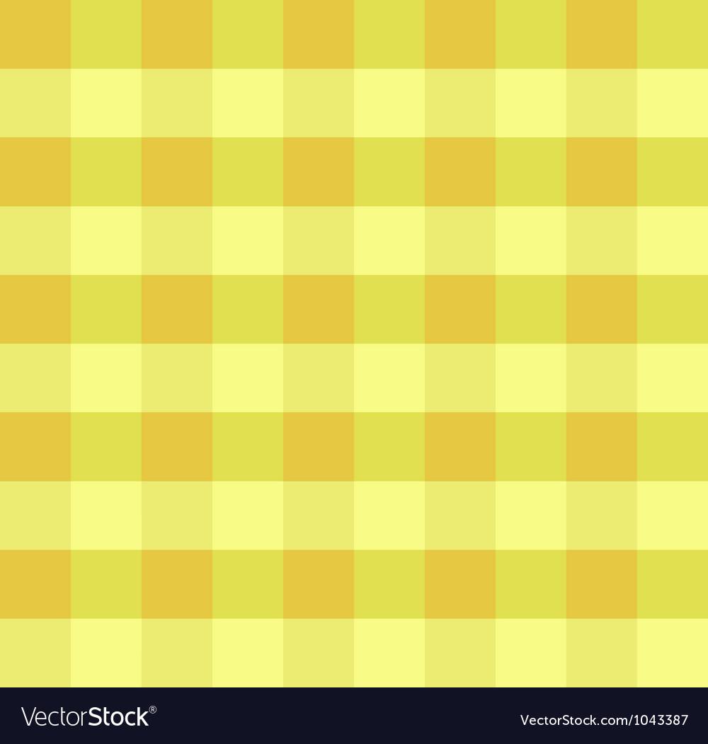 Yellow checkered cloth vector