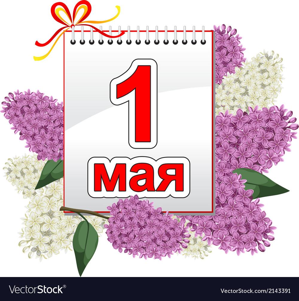 1 may lilac vector