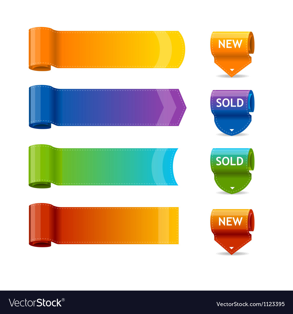 Colorful text box templates vector