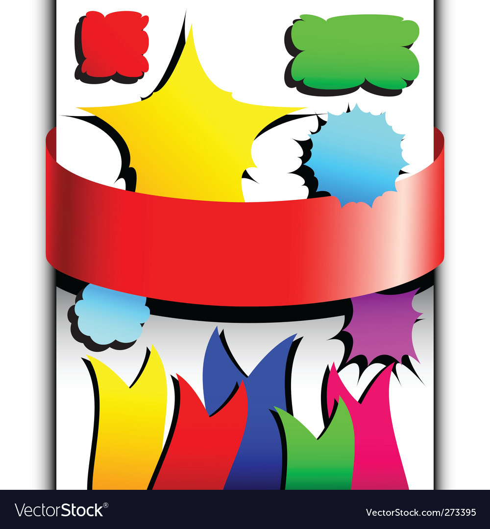 Set of colored tags vector