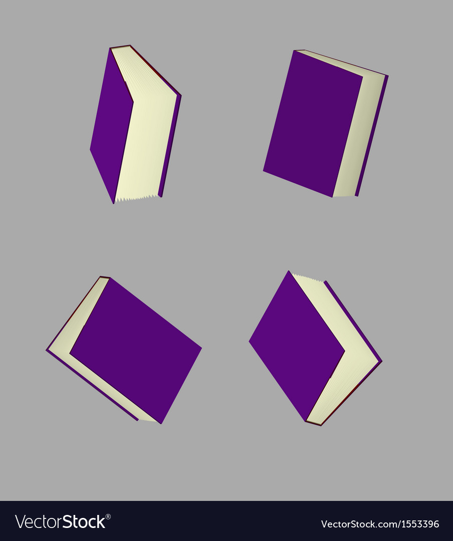 Book in violet cover vector