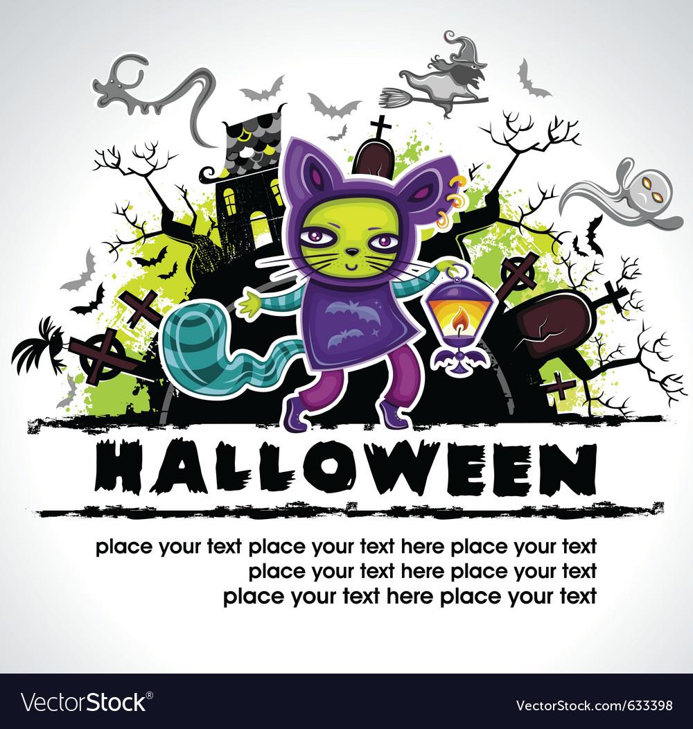 Spooky halloween composition 2 vector
