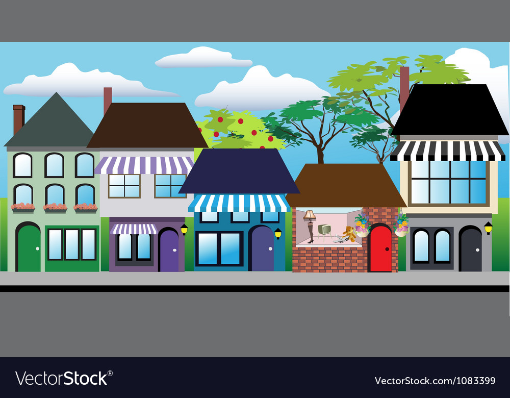 Store shops vector