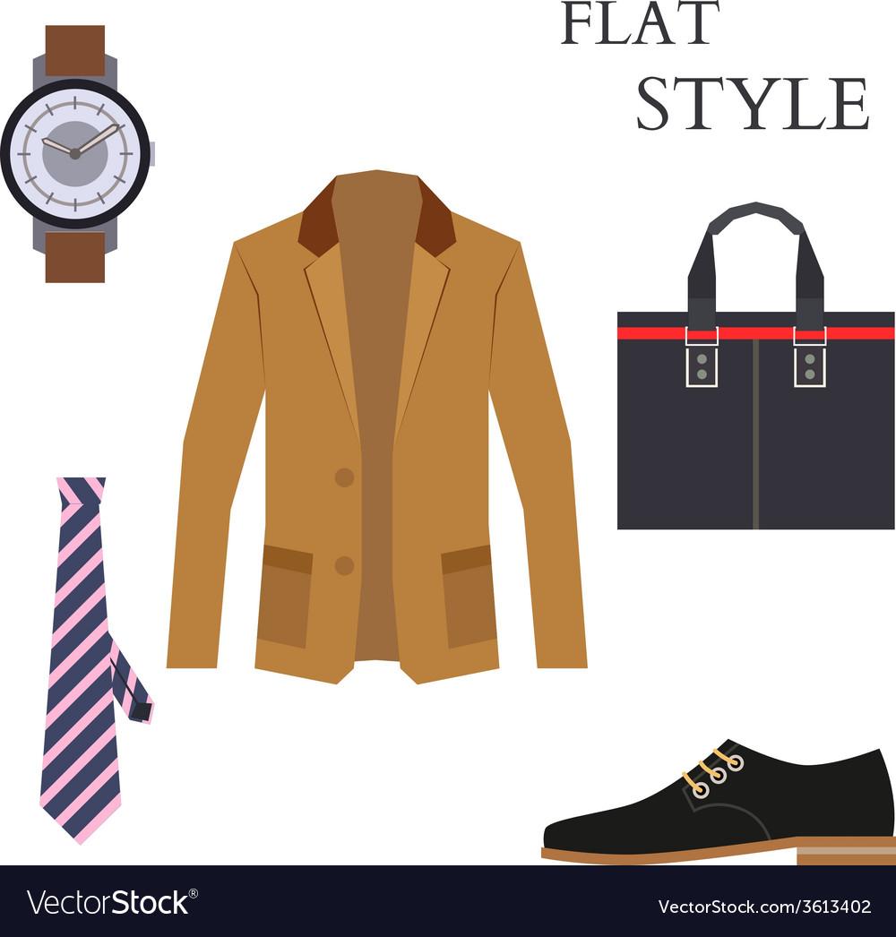Mens wear look fashion flat style vector