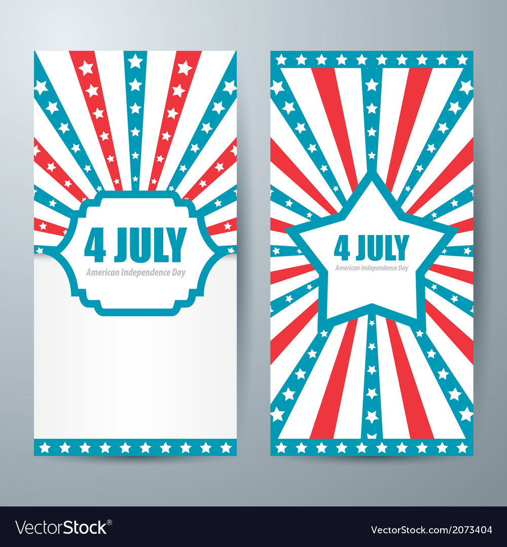 4 july card template vector