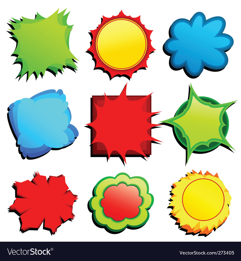Set or colored tags vector