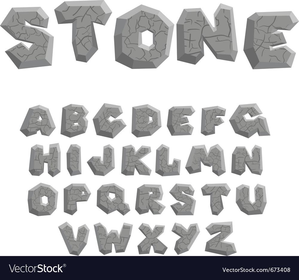 Stone alphabet vector