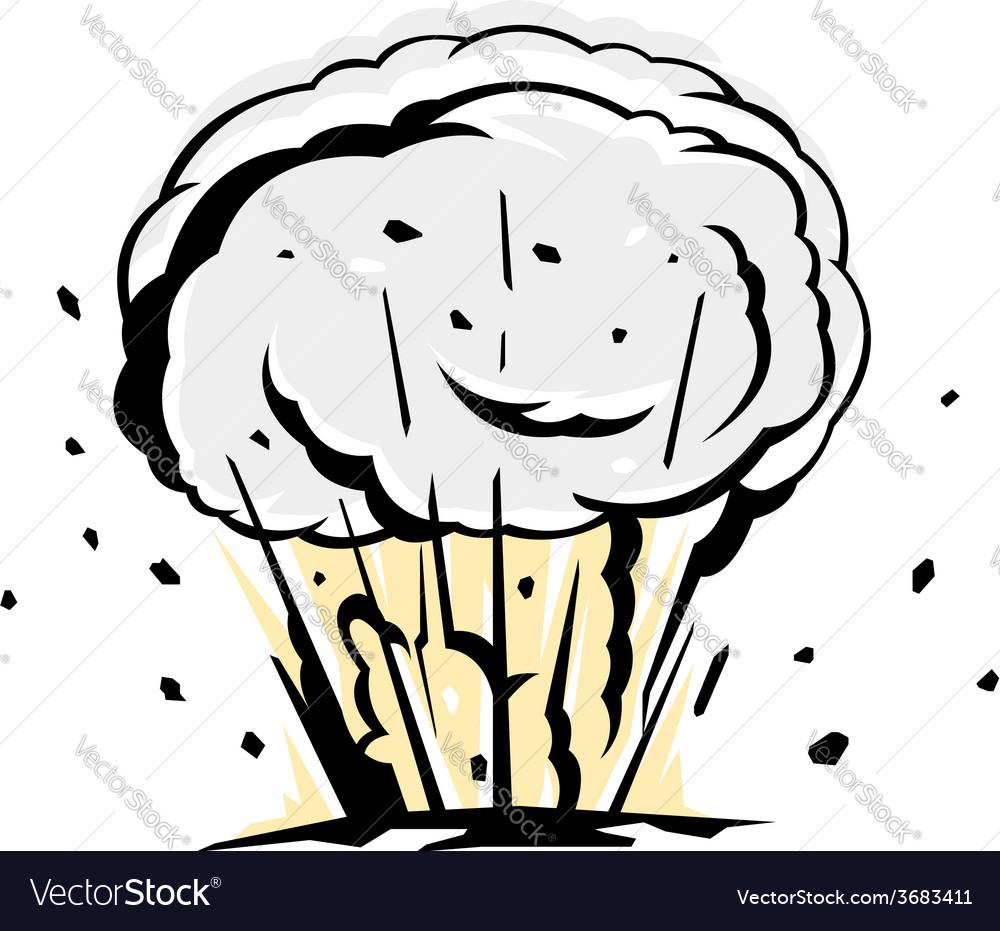 Bomb explosion silhouette vector