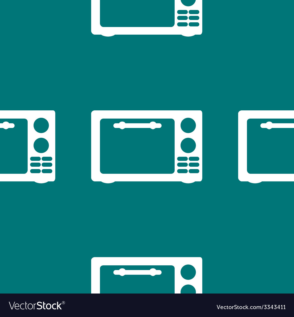 Microwave kitchen equipment web icon flat design vector