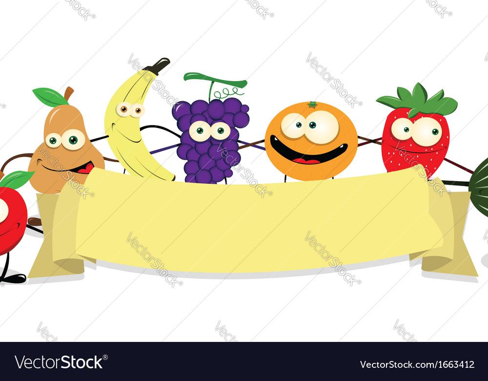 Banner fruit vector