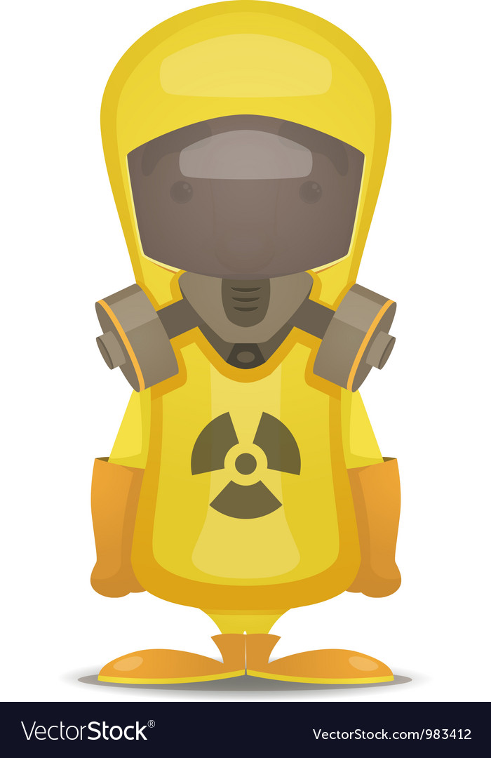 Radiation protection suit vector