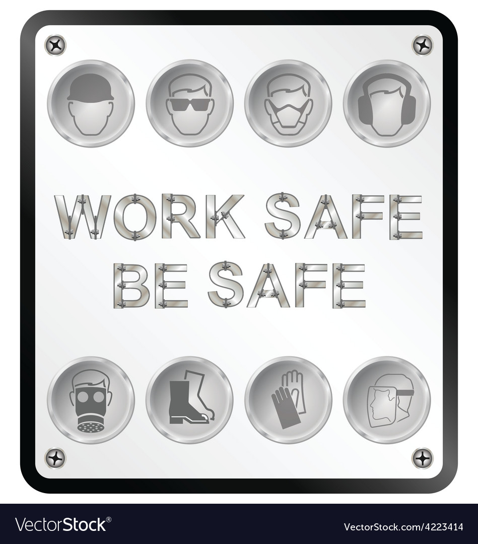 Health and safety sign vector