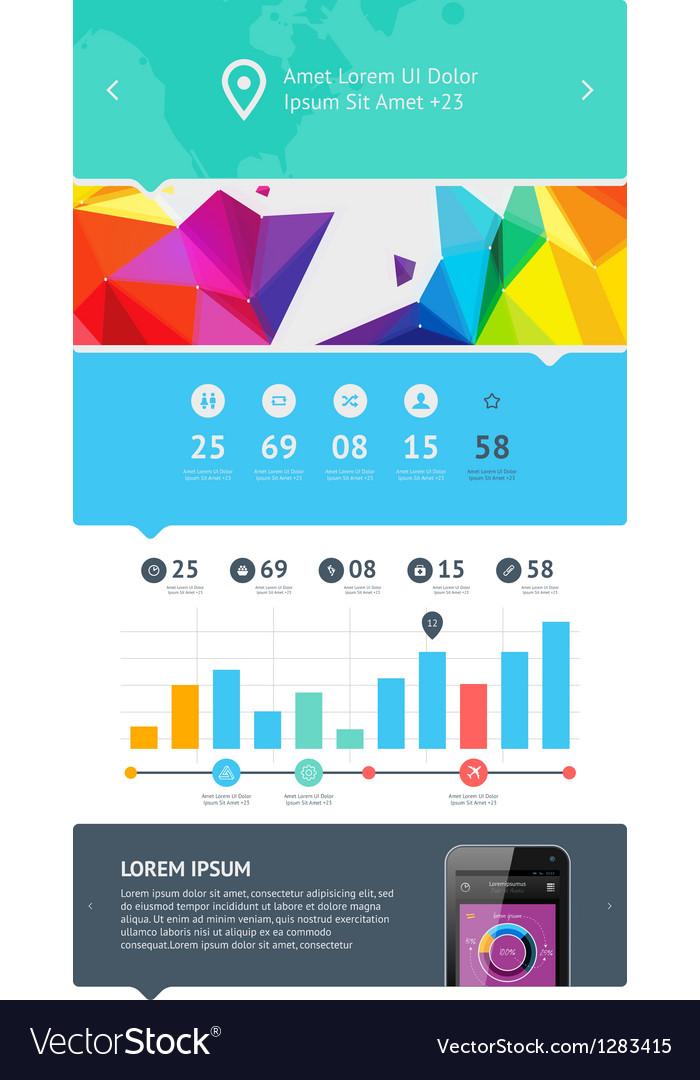 Ui web design set vector