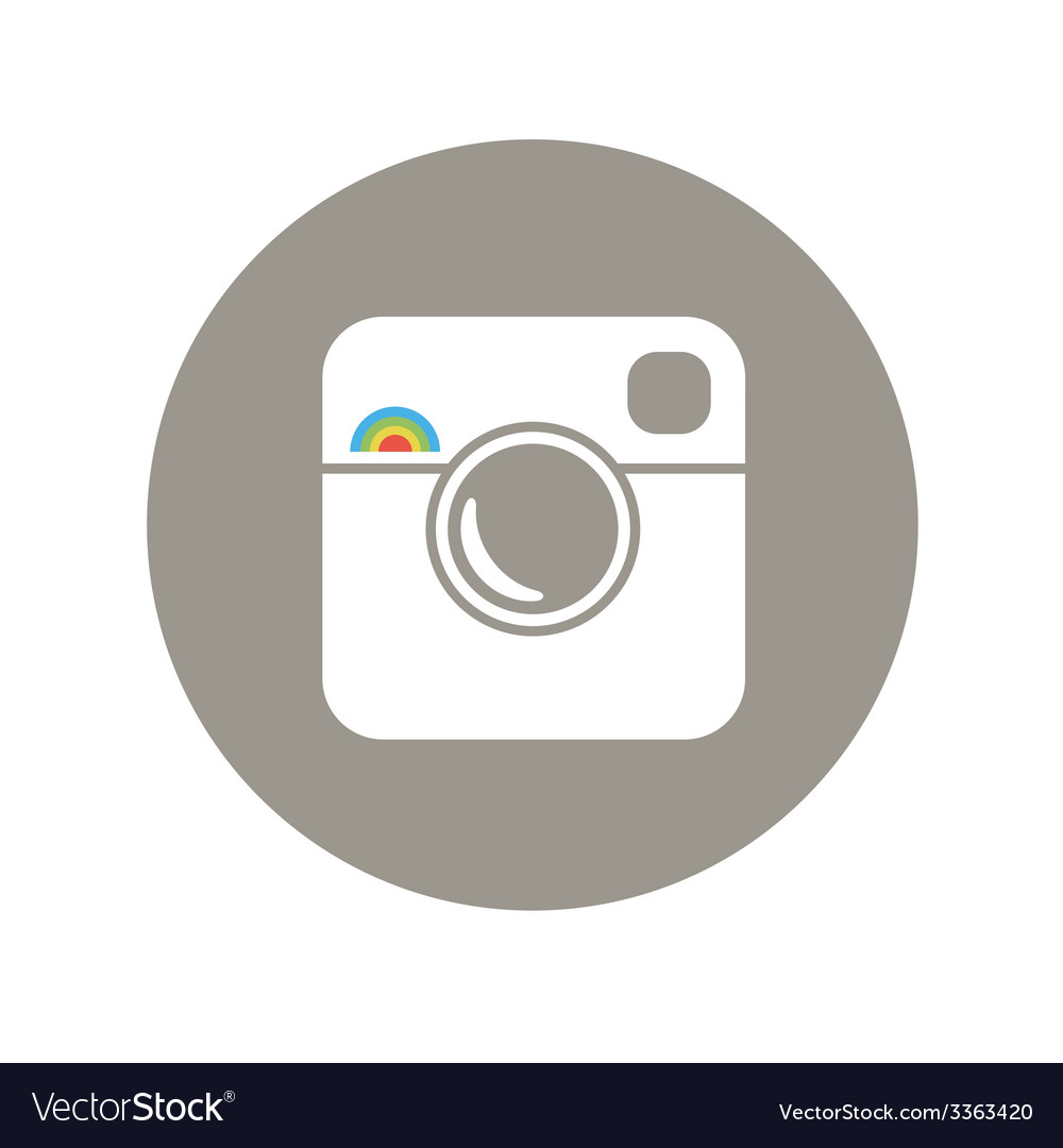 Hipster photo symbol with rainbow vector