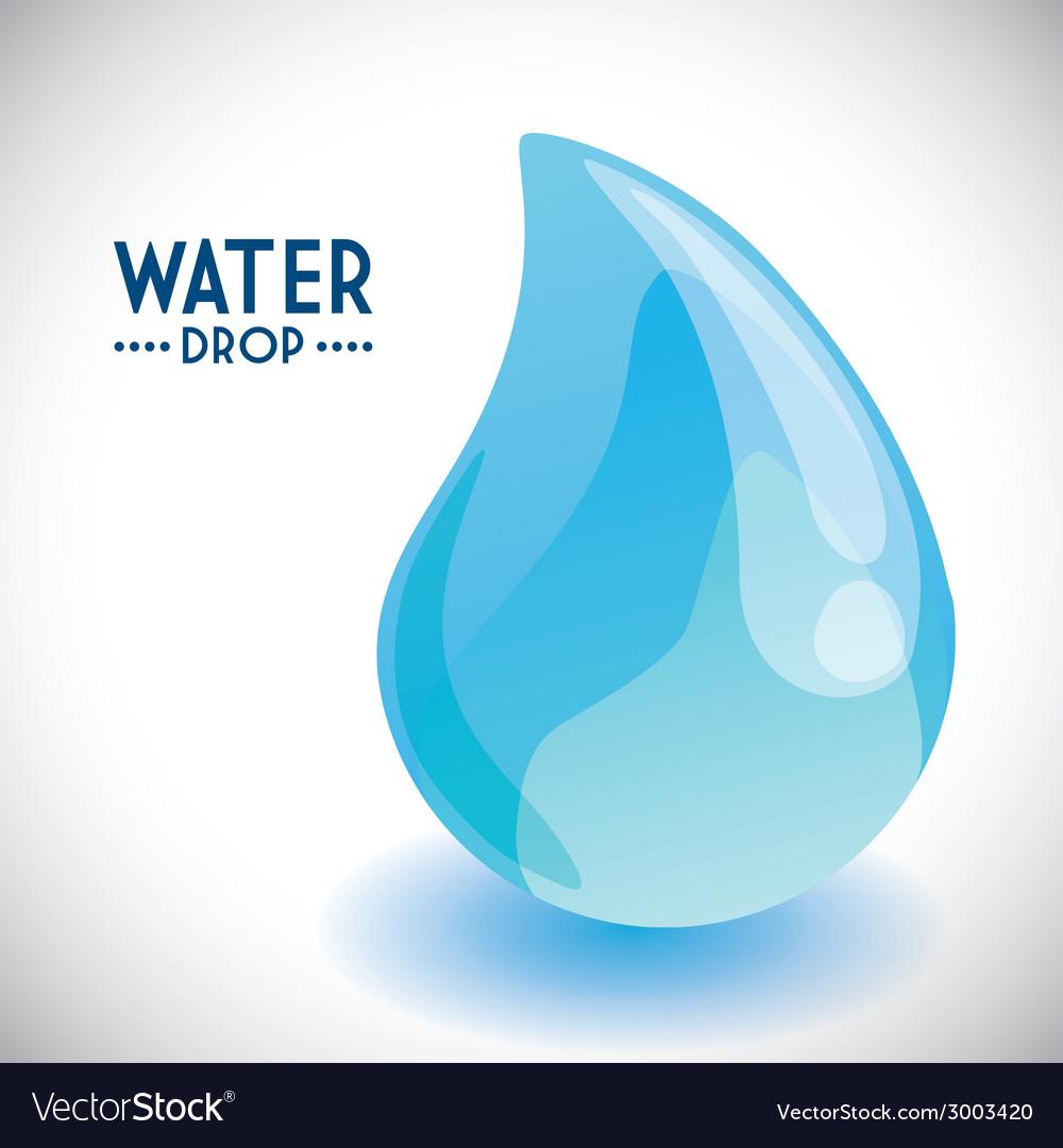 Water drop design vector
