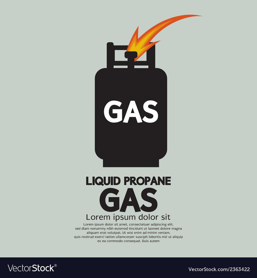 Liquid propane gas vector