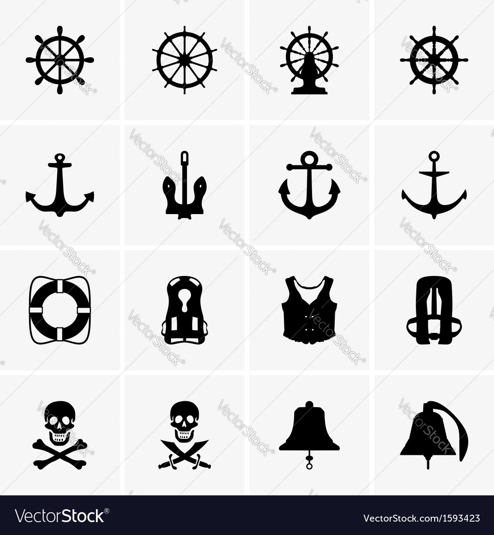 Anchors wheels and other vector