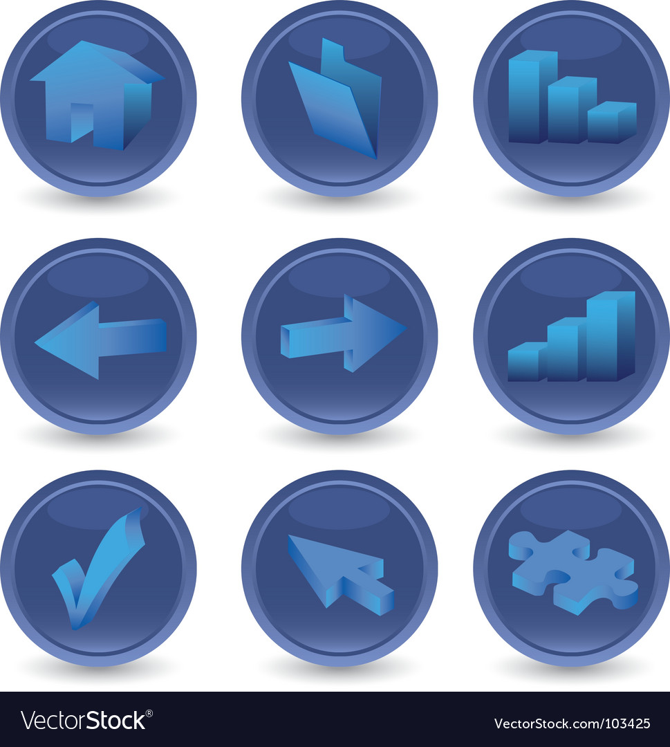 Set of 3d icons vector